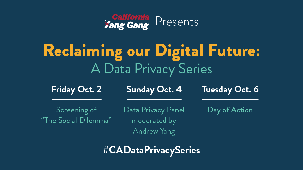 Watch the Video Replay of the October 4 Data Privacy Panel moderated by Andrew Yang